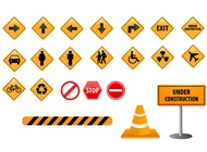 Link toRoad direction sign vectors free