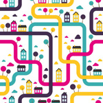 Link toRoad house background vector