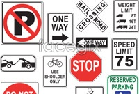 Link toRoad signs vector illustration
