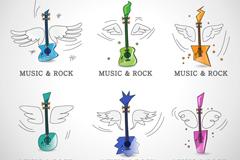 Link toRock music icon vector