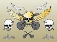 Rock skull vector free