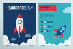Link toRocket card designs creative vectors