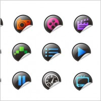 Link toRoll angle of exquisite icons vector