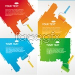 Link toRoller brush text vector