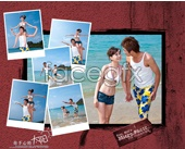 Romantic beach photography psd