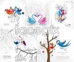 Link toRomantic bird illustration vector