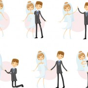 Link toRomantic bride and groom design vector 03 free