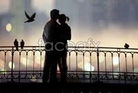 Link toRomantic couple hd picture on the bridge