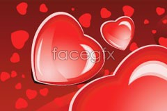 Link tobackground vector heart-shaped crystal Romantic