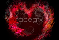 Link toRomantic flame heart-shaped vector