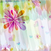Link toRomantic floral pattern background vector design 1