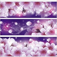 Link toRomantic flower vector background