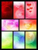 Link toRomantic heart shaped backgrounds psd