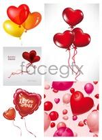 Link toRomantic heart-shaped balloons vector