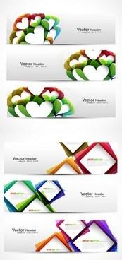 Link toRomantic heart-shaped banner vector map