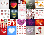 Link toRomantic heart-shaped valentine vector