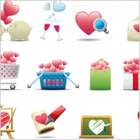 Link toRomantic heartshaped icon 01 vector