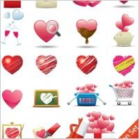 Link toRomantic heartshaped icon 02 vector