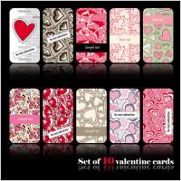 Link toRomantic heartshaped pattern card 02 vector