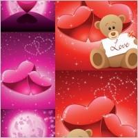 Link toRomantic love bear vector