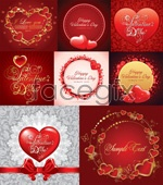 Link toRomantic love greeting card vector