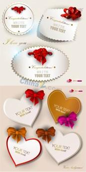 Link toRomantic love label vector map