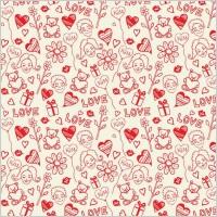 Link toRomantic love seamless pattern vector