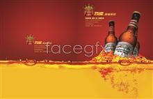 Link toRomantic style of budweiser beer posters psd