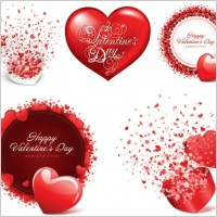 Link toRomantic valentine day cards vector