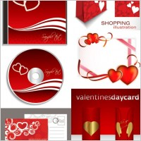 Link toRomantic valentine day elements 02 vector