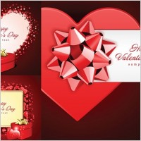 Link toRomantic valentine day gift card vector