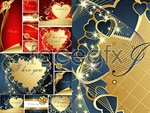 Link toRomantic valentine's day cards vector