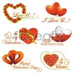 Link toRomantic valentine's day element 02 vector