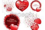 Link toRomantic valentine's day heart-shaped element vector
