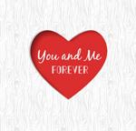 Link toRomantic valentine's day hearts vector