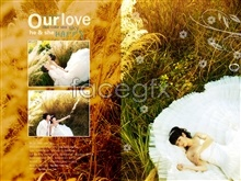 Link toRomantic wedding photo templates psd