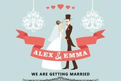 Link toRomantic wedding-poster design vector