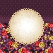 Link toRose and frame vintage background vector 02