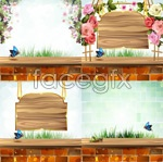 Link toRose butterfly romantic vector