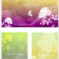 Link toRose dream vector background butterfly silhouette