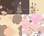 Link toRose flower pattern vector