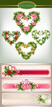 Link toRose flower-shaped ornament vector