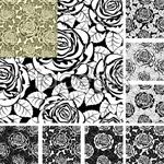 Link toRose pattern background vector