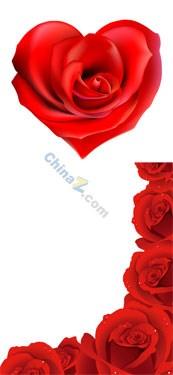 Link toRose romantic theme vector