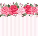 Link toRose striped background vector