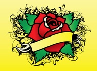 Rose tattoo vector free