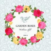 Link toRose with bird vintage cards vector 02 free