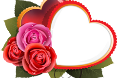 Link toRoses and love background vector