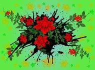 Link toRoses background vector free