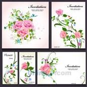 Link toRoses decorative card vector